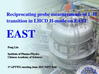 Reciprocating probe measurements of L-H transition in LHCD H-mode on EAST EAST