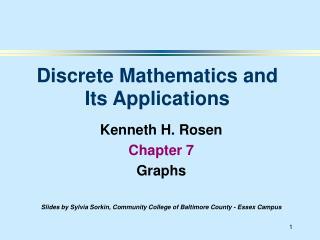 Kenneth H. Rosen Chapter 7 Graphs