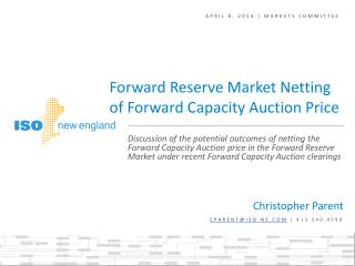 April 8, 2014 | Markets Committee