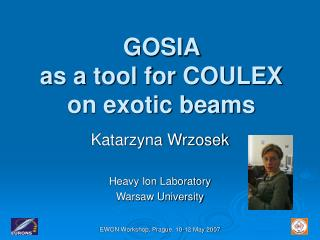 GOSIA  as a tool for COULEX on exotic beams