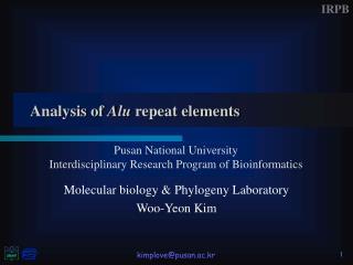 Analysis of  Alu  repeat elements