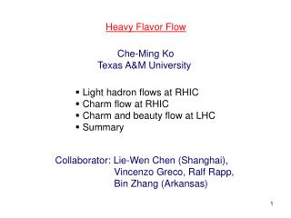 Heavy Flavor Flow