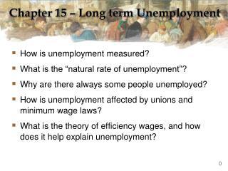 Chapter 15 – Long term Unemployment