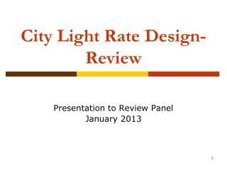 City Light Rate Design-Review