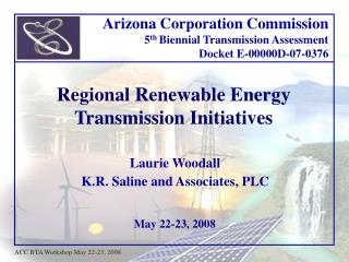 Regional Renewable Energy Transmission Initiatives
