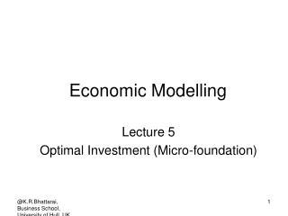 Economic Modelling
