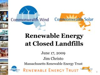 Renewable Energy  at Closed Landfills