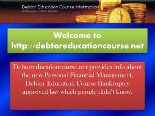 Debtor Education Course
