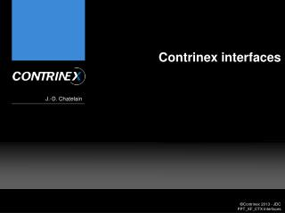 Contrinex interfaces