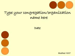 Type your congregation