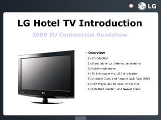 LG Hotel TV Introduction 2009 EU Commercial Roadshow