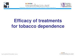 Efficacy of treatments for tobacco dependence