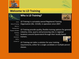 Who is LD Training?