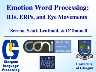 Emotion Word Processing: