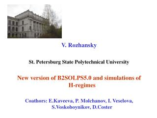 V. Rozhansky St. Petersburg State Polytechnical University