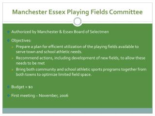Manchester Essex Playing Fields Committee