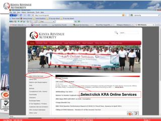 Select/click KRA Online Services