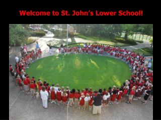 Welcome to St. John's Lower School!