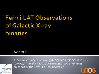 Fermi LAT Observations of Galactic X-ray binaries