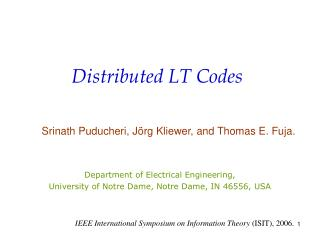 Distributed LT Codes