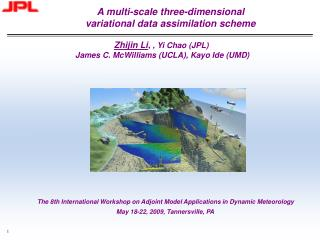 A multi-scale three-dimensional  variational data assimilation scheme