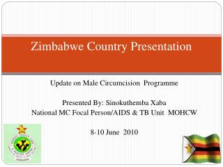 Zimbabwe Country Presentation
