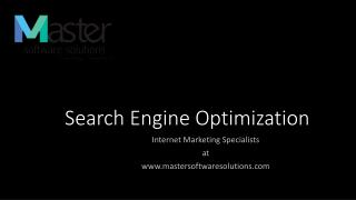Search Engine Optimization Basics By Master Softwares