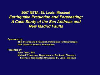 2007 NSTA: St. Louis, Missouri