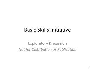 Basic Skills Initiative