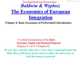 Baldwin & Wyplosz The Economics of European Integration