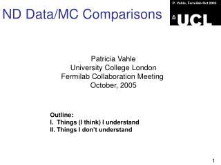 ND Data/MC Comparisons