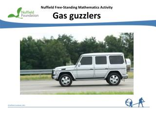 Nuffield Free-Standing Mathematics Activity Gas guzzlers