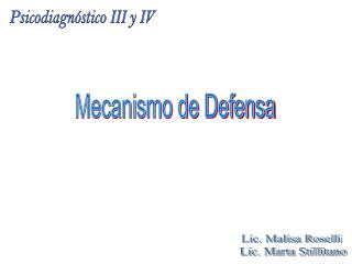 Mecanismo de Defensa