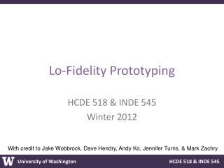 Lo-Fidelity Prototyping