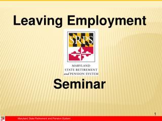 Leaving Employment  Seminar
