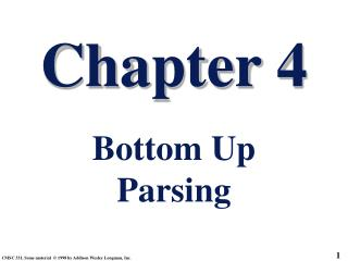 Chapter 4 Bottom Up Parsing