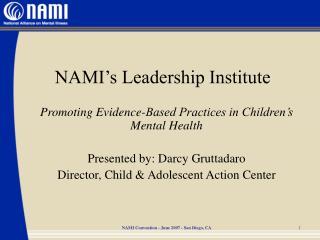 NAMI's Leadership Institute