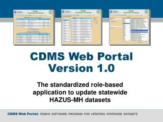 CDMS Web Portal Version 1.0