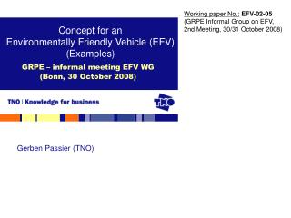 GRPE – informal meeting EFV WG  (Bonn, 30 October 2008)