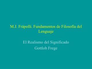 M.J. Frápolli. Fundamentos de Filosofía del Lenguaje