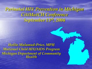 Perinatal HIV Prevention in Michigan CitiMatCH Conference  September 13 th , 2004