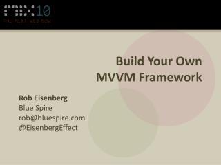 Build Your Own  MVVM Framework