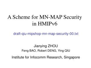 A Scheme for MN-MAP Security in HMIPv6