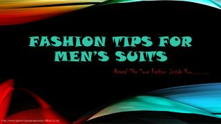 Fashion Tips for Men's Clothing