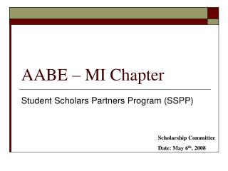 AABE – MI Chapter