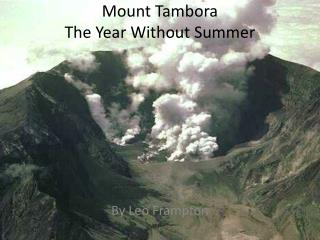 Mount Tambora  The Year Without Summer