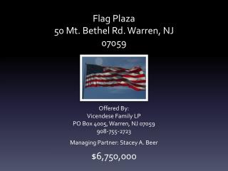 Flag Plaza 50 Mt. Bethel Rd. Warren, NJ 07059