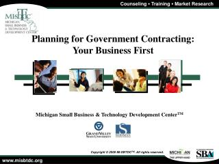 Planning for Government Contracting: Your Business First