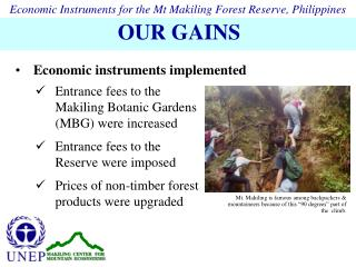 Entrance fees to the Makiling Botanic Gardens (MBG) were increased