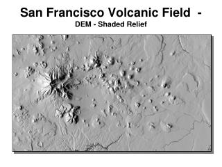 San Francisco Volcanic Field  -  DEM - Shaded Relief